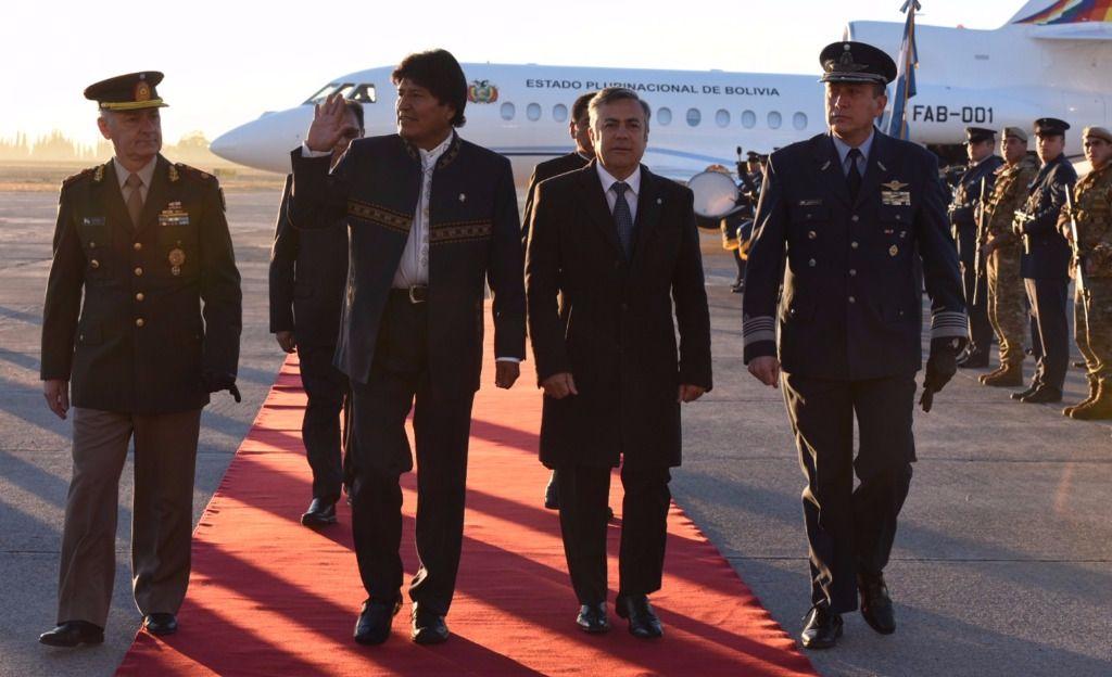 Llegó Evo Morales y se fue derechito al hotel Intercontinental
